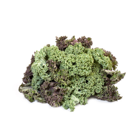 nearness: Kale cabbage isolated on white background