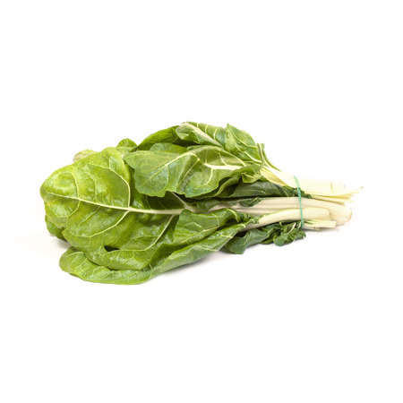 growers: Swiss chard isolated on white background Stock Photo