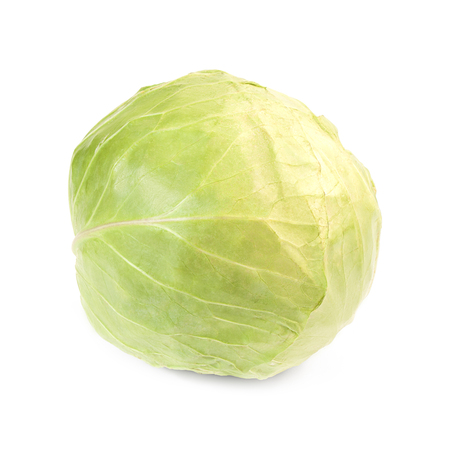 green cabbage: Green cabbage isolated on white background