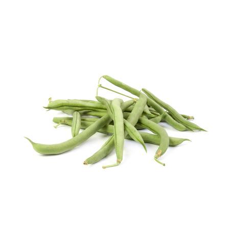 ejotes: Jud�as verdes aislados sobre fondo blanco
