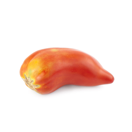 Pepper tomato isolated on white background. Local product of Catalonia (Spain) called Nas de bruixa (witch nose)