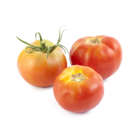 nearness: Bodar tomatoes isolated on white background. Local product of Catalonia (Spain) Stock Photo
