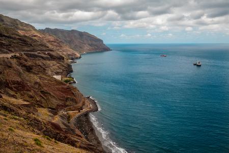 Panoramic view of Las Gaviotas from the viewpoint of Las Teresitas beach, Tenerife - Canary Islands, Spain