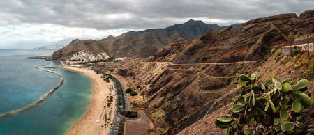 View of Las Teresitas Beach in a cloudy day, Tenerife - Canary Islands, Spain