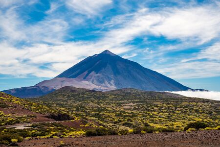 The Teide seen from the Astronomical Observatory in Tenerife, Canary Islands, Spain