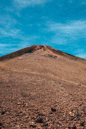 Portrait view of the peak of Teide, highest volcano and mountain in Spain, Tenerife, Canary Islands Banque d'images