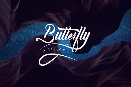 Butterfly Effect hand lettering illustration Illustration