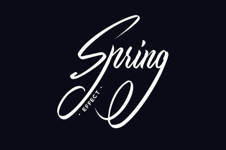 春の効果手レタリング