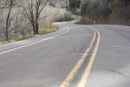 The long and winding road 版權商用圖片 - 9589748