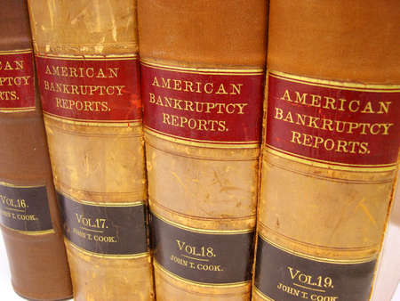 Volumes 16 through 19 of bankruptcy opinions.  They're from the 1930's. Stock Photo - 564445