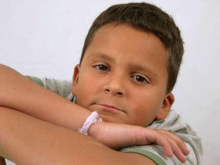 xavi: Portrait of Hispanic Boy Stock Photo