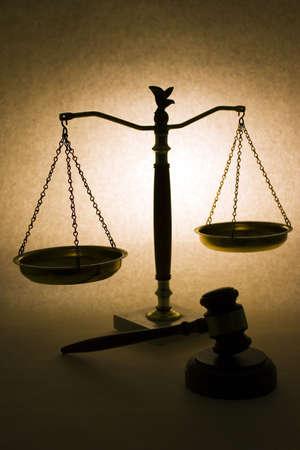 balanza de la justicia: Justicia Silhouette