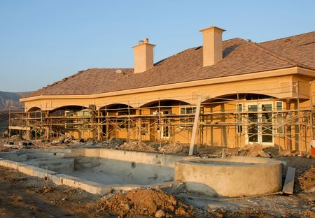 residential construction of luxury estate home