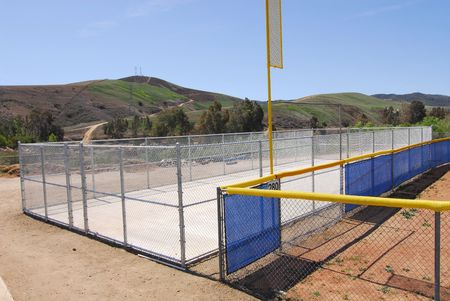 batting cage at little league baseball complex  photo