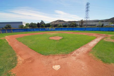 youth league baseball field for T-Ball division  Banco de Imagens