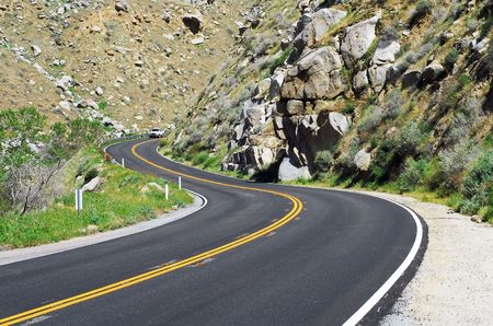 mountain road with dangerous curves