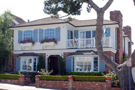 luxury home in beach community in California photo