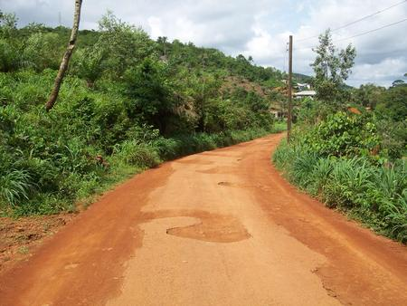 the dirt: African Dirt Road Stock Photo
