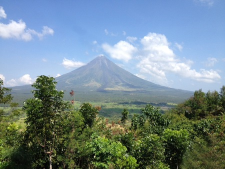 mayon: Mayon Volcano, Pride of Albay Philippines Stock Photo