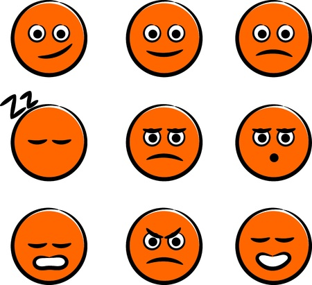 forums: Cute Smiley Faces Illustration