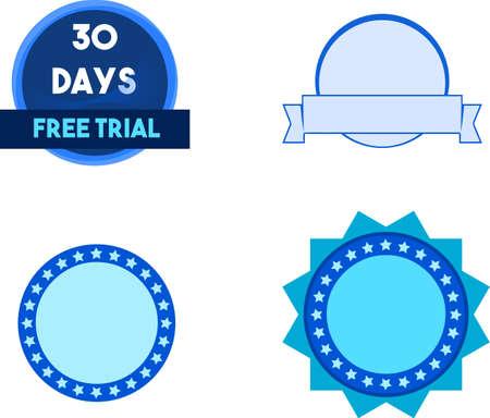 30 days free trial Ilustração