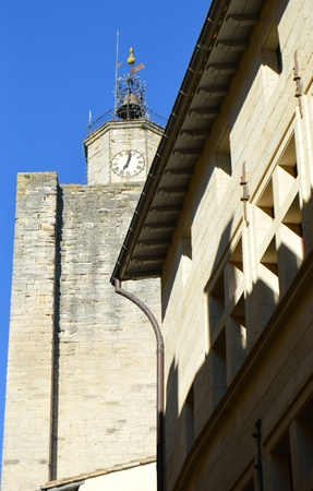 duke: View on the palace of the duke in Uzes France
