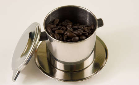 energizing: Preparing an energizing cup of vietnamese coffee