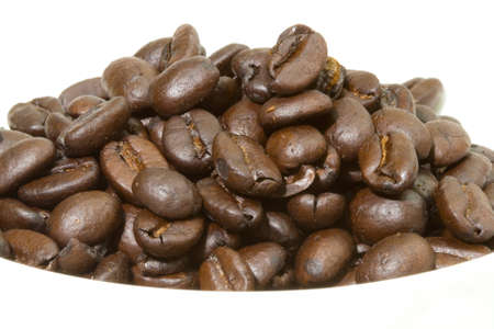 columbian: A mound of fresh Columbian coffee beans