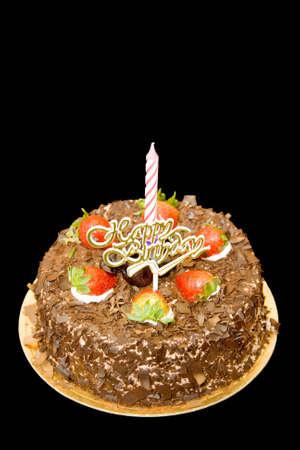 chuparse los dedos: Un delicioso pastel de chocolate adornado con fresas