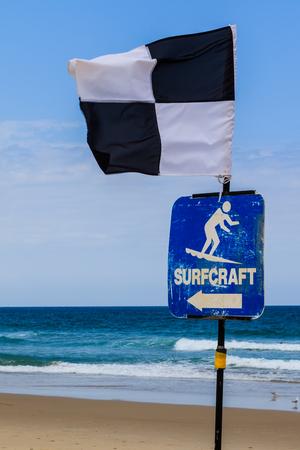 surfers: Surfers Paradise beach surf zone marker
