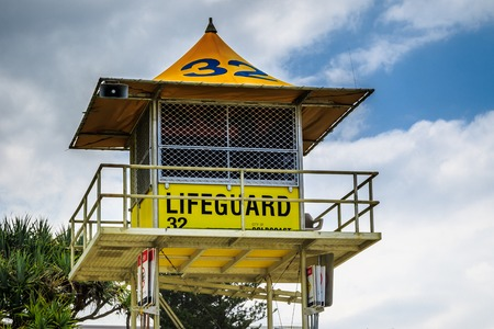 surfers paradise: Close up of a Surfers Paradise lifeguard tower Stock Photo