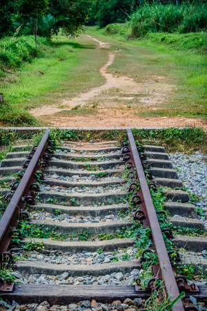 The end of the rail and the beginning of the path