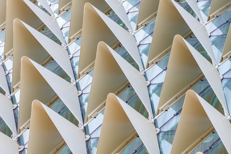 Rows of protruding triangles forming an interesting pattern. Stock Photo