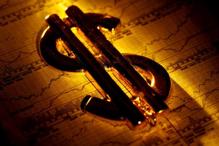 Abstract Photo of a Dollar Sign and Stock Charts. Stock Photo - 220917