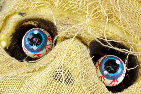 Foto van een Mummuies Eyes Stockfoto