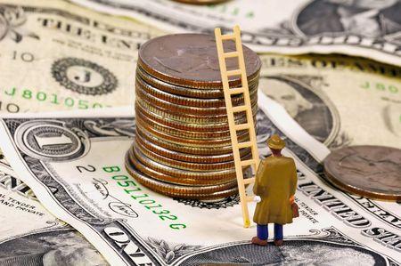 Climbing The Ladder of Success Concept. Banco de Imagens