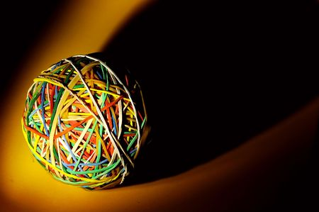 rubberband: Rubberband Ball With Creative Lighting