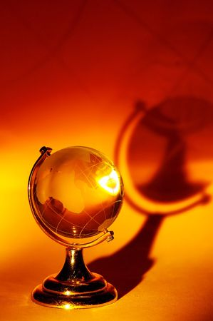 Photo of a Glass Globe and its Shadow. Reklamní fotografie - 226254