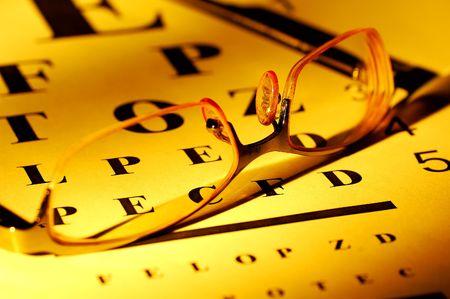 sight chart: Anteojos y un Eyechart