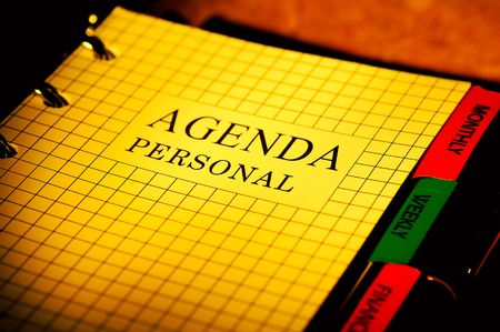 Photo of a Day Planner.