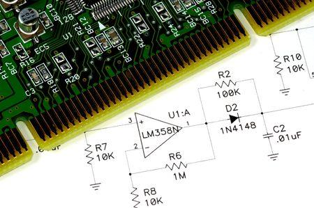 Technisch Tekenen en een Circuit Board.