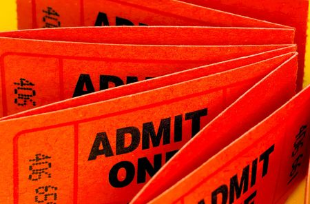 admit: Photo of Admit One Tickets