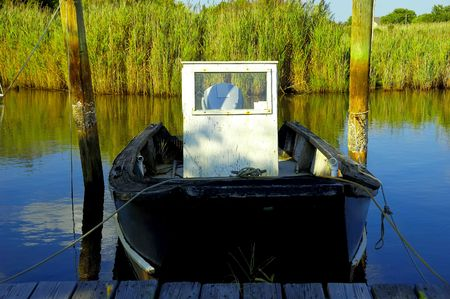 Photo of a Docked Fishing Boat Stock Photo - 233080