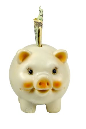 Isolated Piggy Bank - Clipping Path Included Banco de Imagens