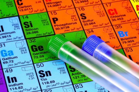 test tubes: Periodic Table and Test Tubes