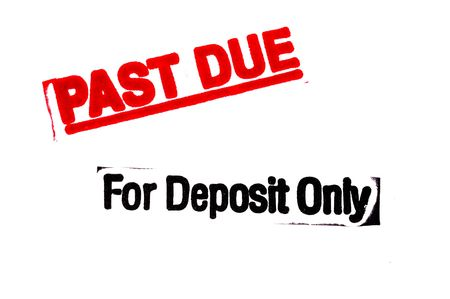 inkpad: Past Due and Deposit Stamp