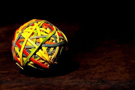 rubberband: Foto de una RUbberband Ball