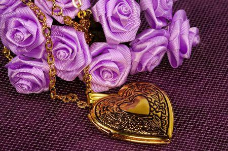medaglione: Cuore d'oro forma Locket