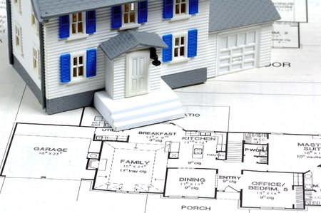 Miniature Home and Plans. photo