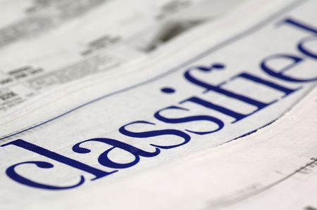 classifieds: Newspaper Classifieds Stock Photo